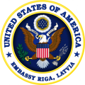 ASV Vēstniecības Rīgā ģērbonis